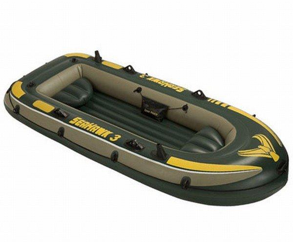 надувная лодка seahawk 300 295х137х43см intex