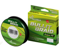 Леска плетеная ALLVEGA Bullit Braid 135 м, 0.18 мм, цв. Dark Green